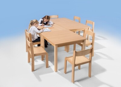 Kindertisch quadratisch - 4-er Set