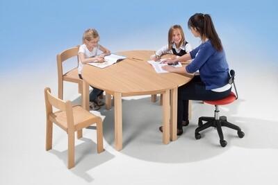 Kindertisch halbrund - 2-er Set
