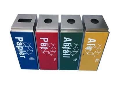 Recycling Abfalltrennsystem 4-Set