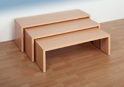 Sitzbänke (ineinanderverstaubar) im 3-Set