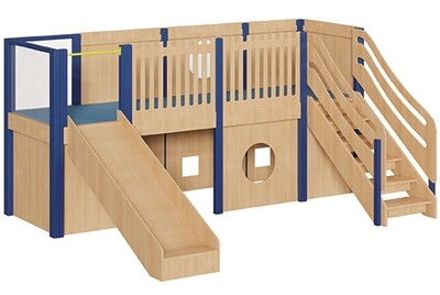 Spielburg Modell Maxi freistehend mit Rutsche (Höhe 70cm)