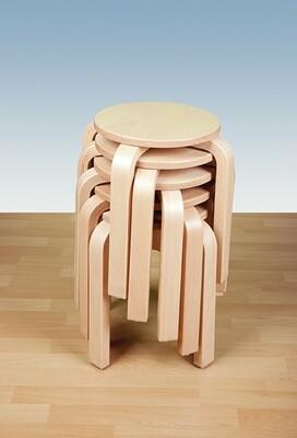 Stapelhocker mit runder Sitzfläche im 4er-Set