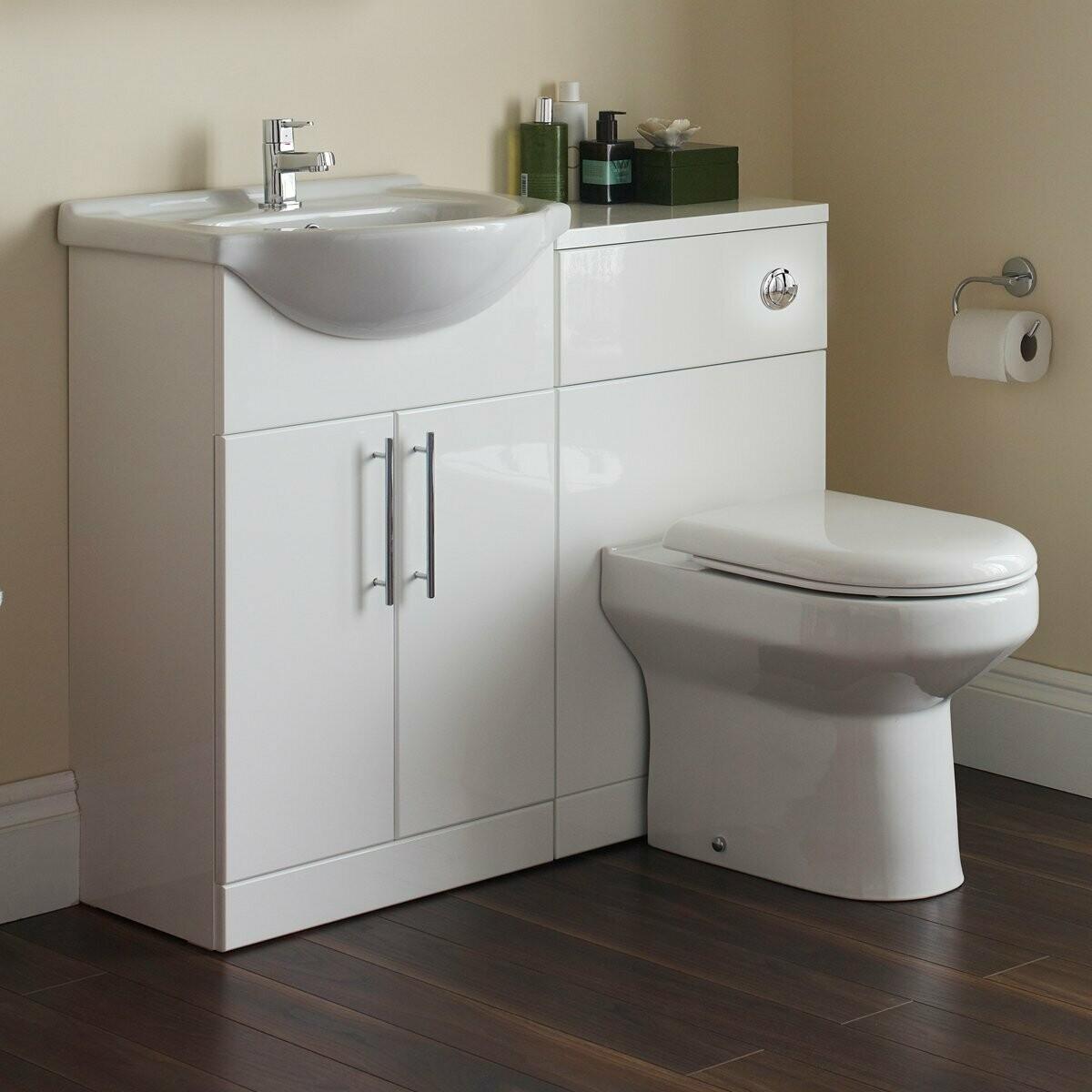 Impakt Set Sink Cabinet Toilet Cabinet Cistern Soft Close Seat