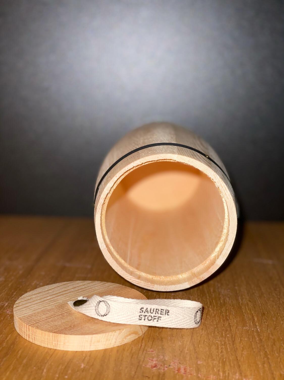Kleines Holzfass Verpackung