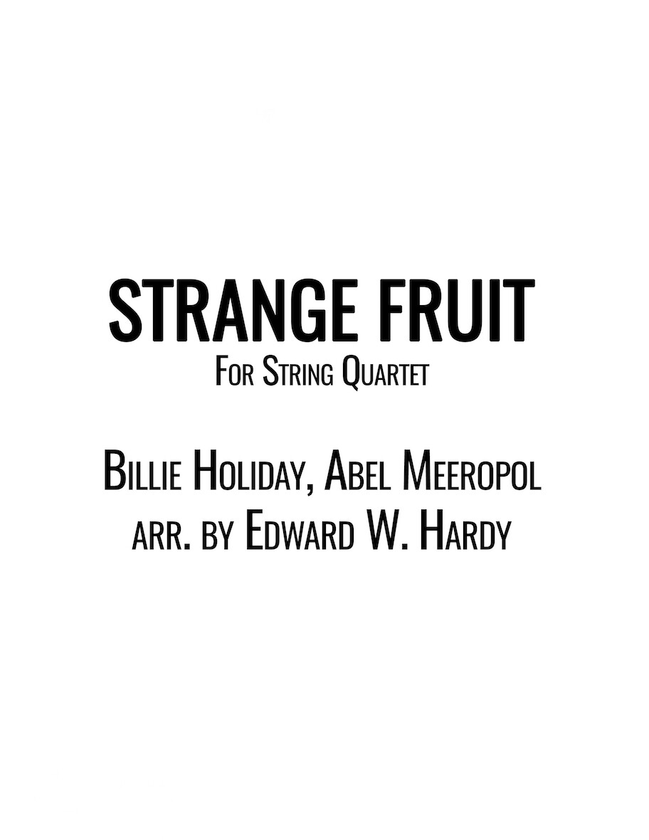Strange Fruit- String Quartet Sheet Music & MP3