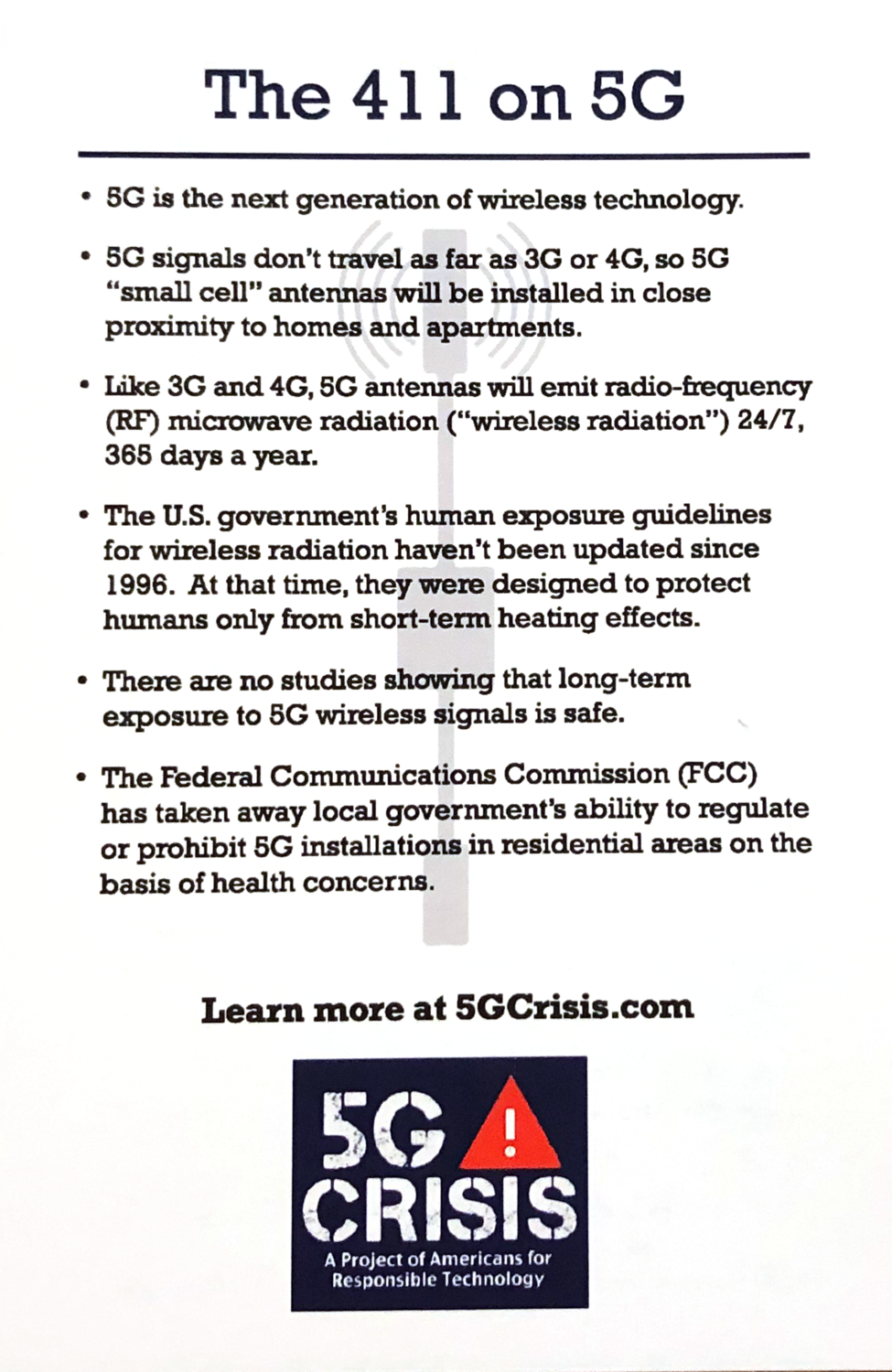 5G Info Cards - Set of 25