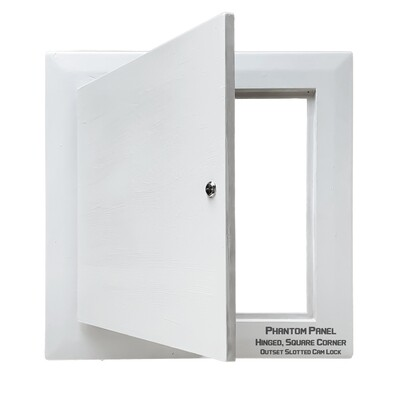 Phantom Panel | GFRG Drywall Access Door | Hinged, Square Corner
