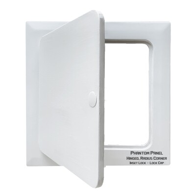 Phantom Panel | GFRG Drywall Access Door | Hinged, Radius Corner