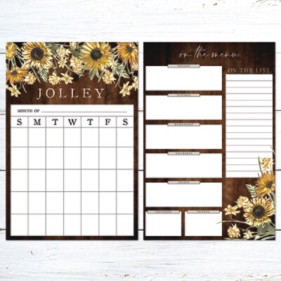 Family Organization Bundle - Sunflower