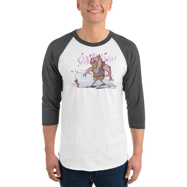 BRING IT! 3/4 sleeve raglan shirt