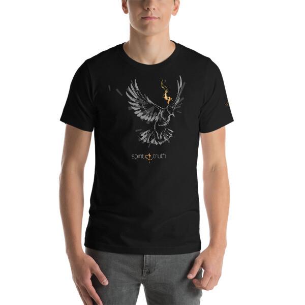 SPIRIT & TRUTH (Gray on Black) Short-Sleeve Unisex T-Shirt