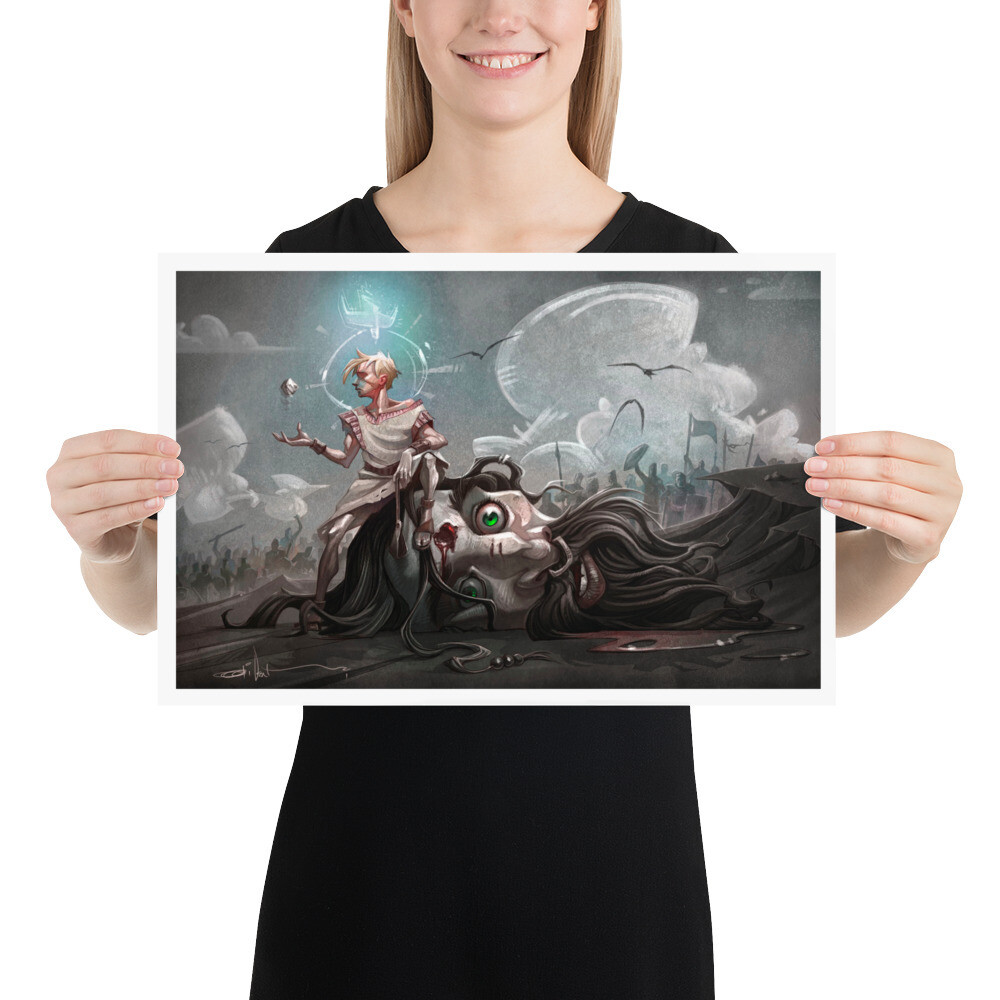 SLING AND STONE Art Print