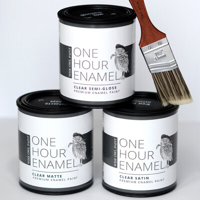One Hour Enamel Clear (Quart - 32oz)