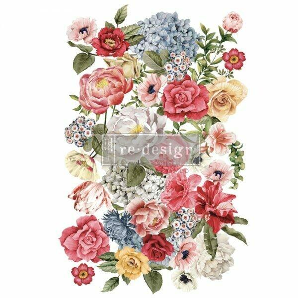 Wonderous Floral 2 Décor Transfer