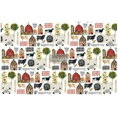 Decoupage Décor Tissue Paper - Farm to Table