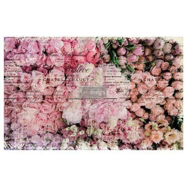 Decoupage Décor Tissue Paper - Flower Market