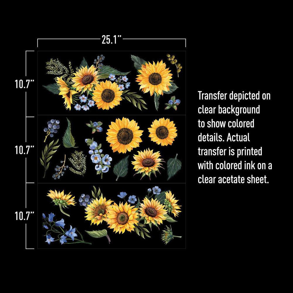 Sunflower Fields Décor Transfer