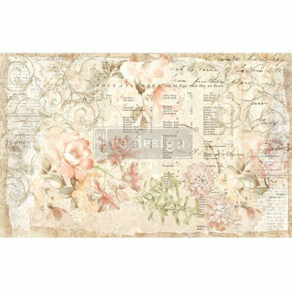 Decoupage Décor Tissue Paper - Floral Parchment