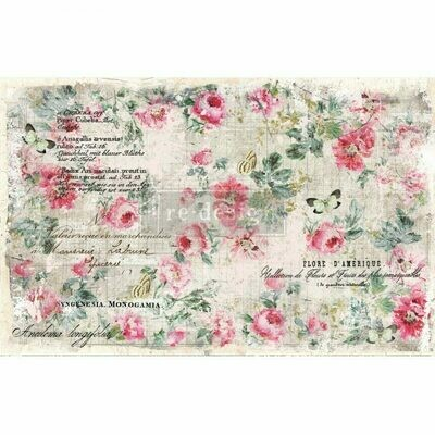 Decoupage Décor Tissue Paper - Floral Wallpaper
