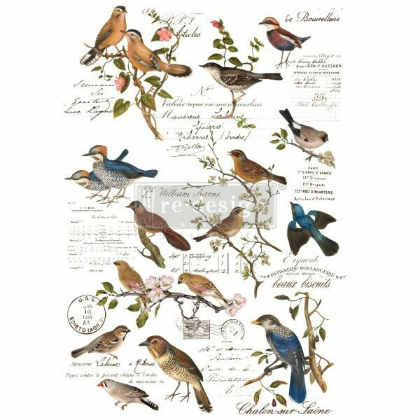 Postal Birds Décor Transfer