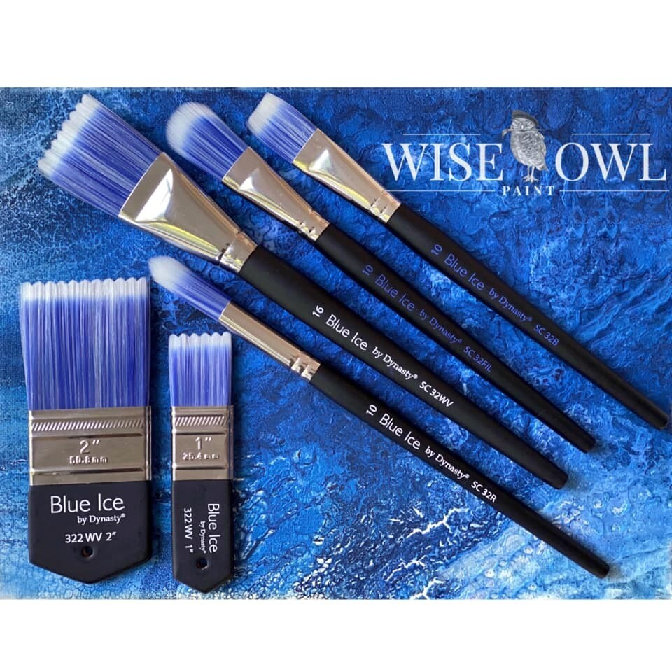 Blue Ice Artist Brushes