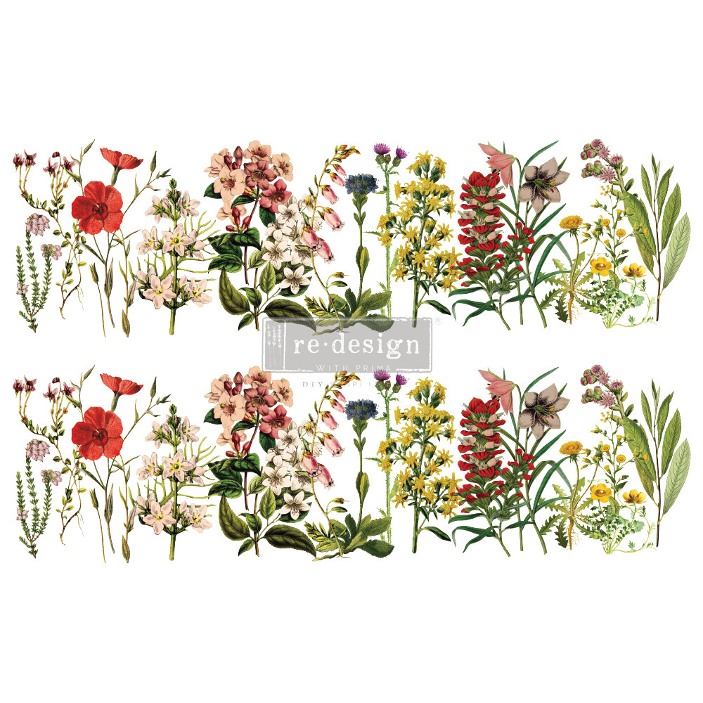The Flower Fields Décor Transfer