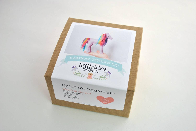 Lavender Rainbow Unicorn Sewing Kit