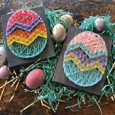 Easter Egg Mini String Art Kit