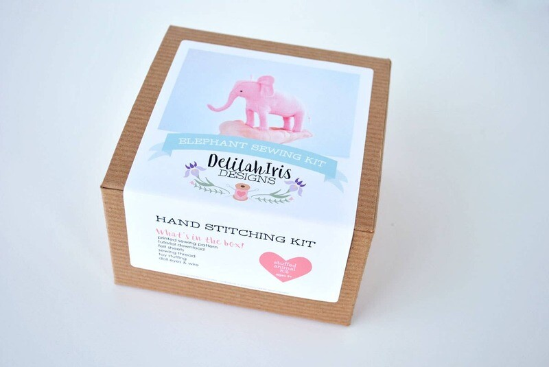 Pink Elephant Sewing Kit