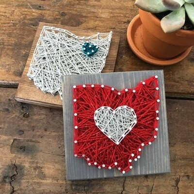 State Shape Mini String Art Kit - Minnesota