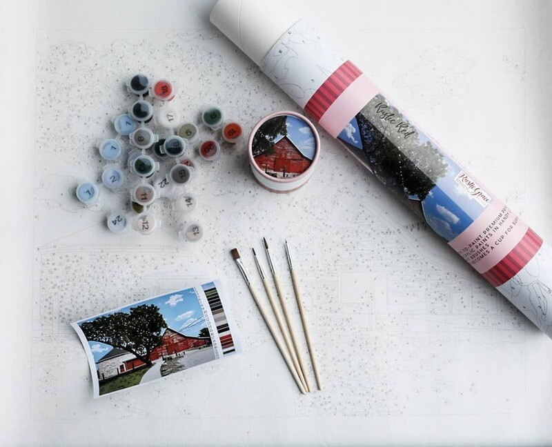 Paint by Numbers Kit - Rustic Red