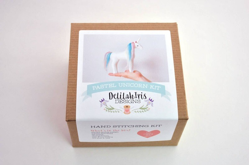 Pastel Rainbow Unicorn Sewing Kit