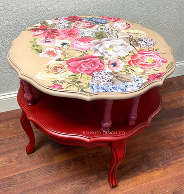 Oversized Floral Side Table