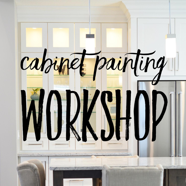 Cabinet Painting Workshop