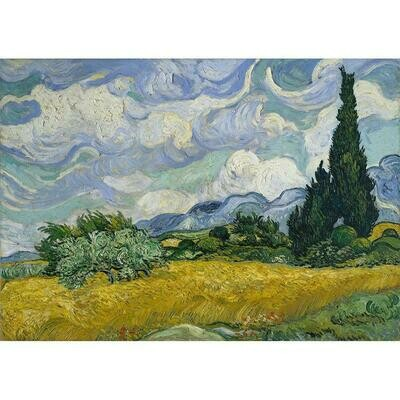 Wheatfields and Cypresses