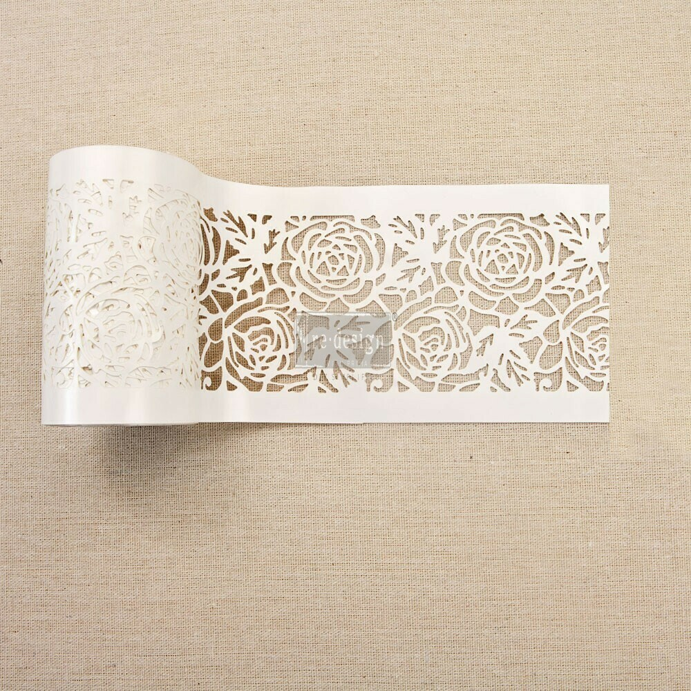 Stick and Style Stencil: Tea Rose Garden