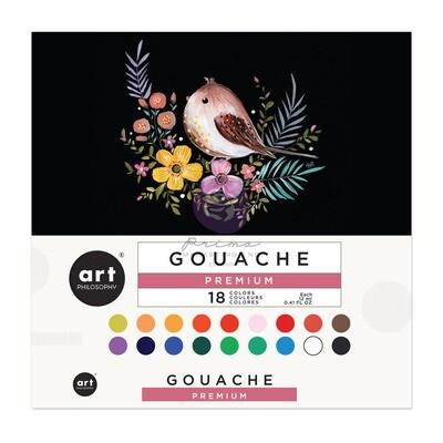Art Philosophy Gouache Set - 18 colors