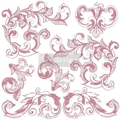 Decor Stamps: Elegant Scrolls