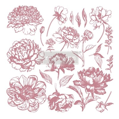 Decor Stamps: Linear Floral