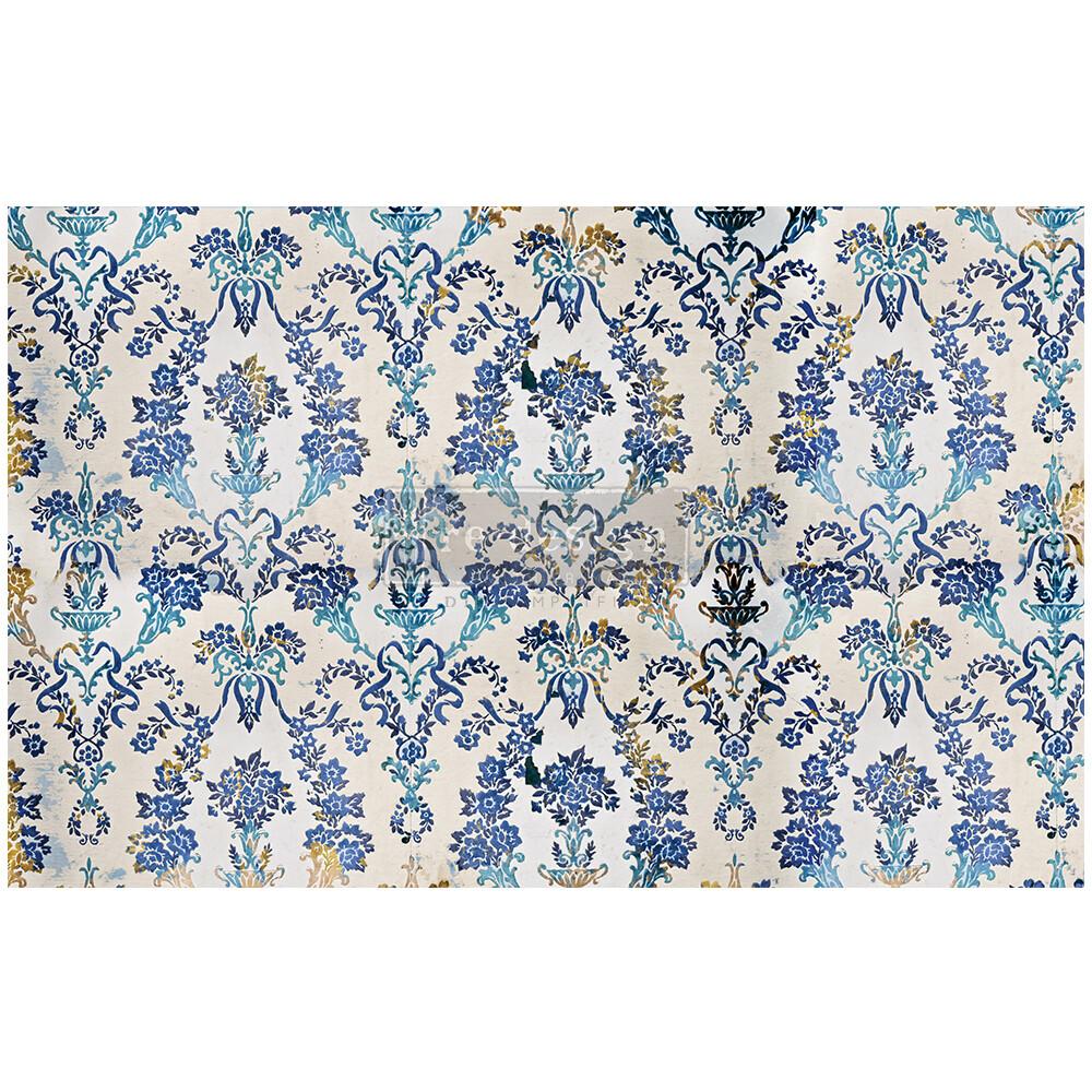 Decoupage Décor Tissue Paper - Cobalt Flourish