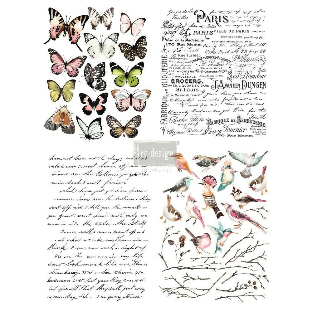 Décor Transfer - Parisian Butterflies