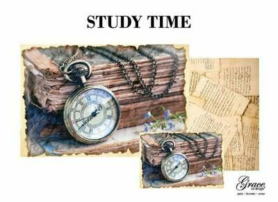 Study Time Decoupage Pack