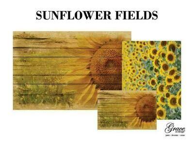 Sunflower Fields Decoupage Pack