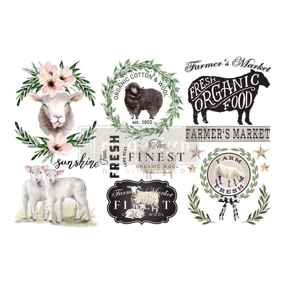 Small Decor Transfer - Sweet Lamb
