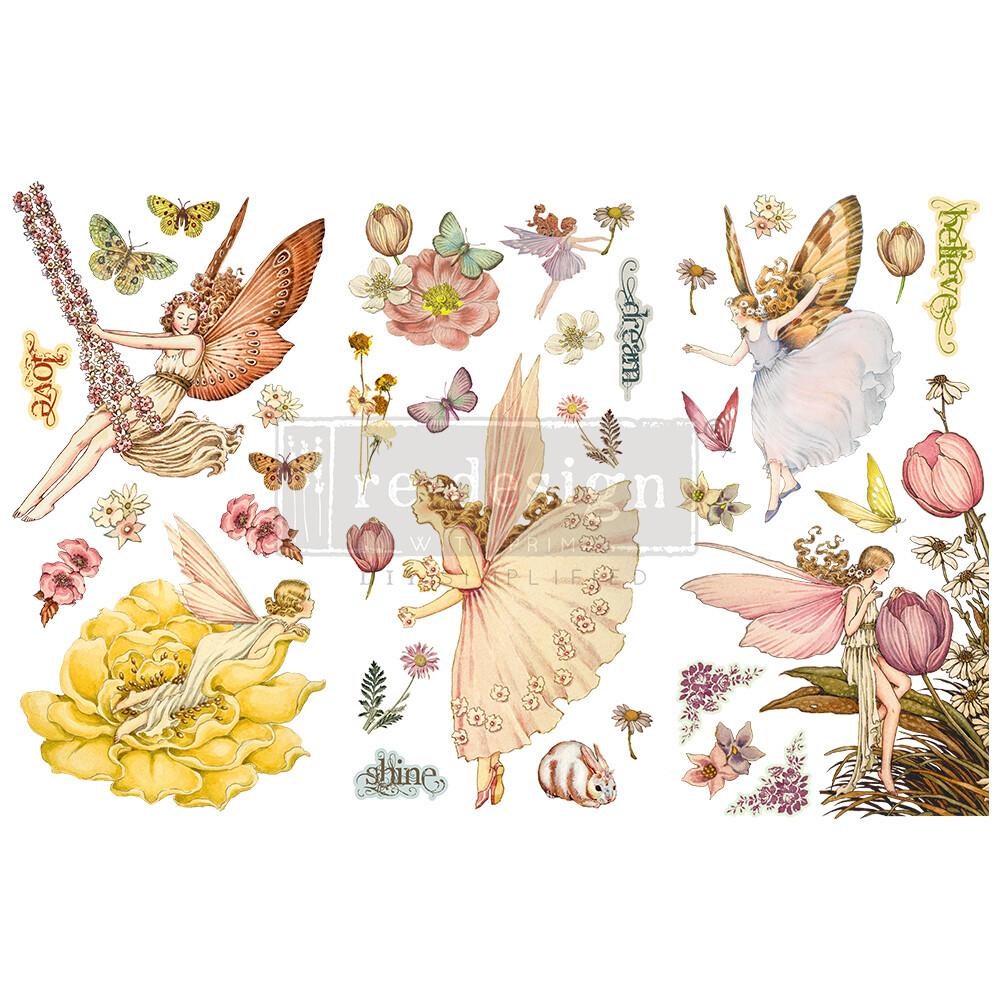 Small Decor Transfer - Fairy Flowers
