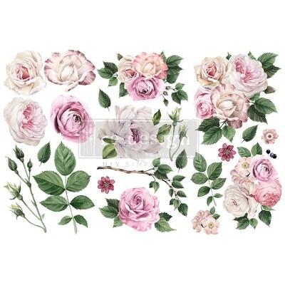 Small Decor Transfer - Delicate Roses