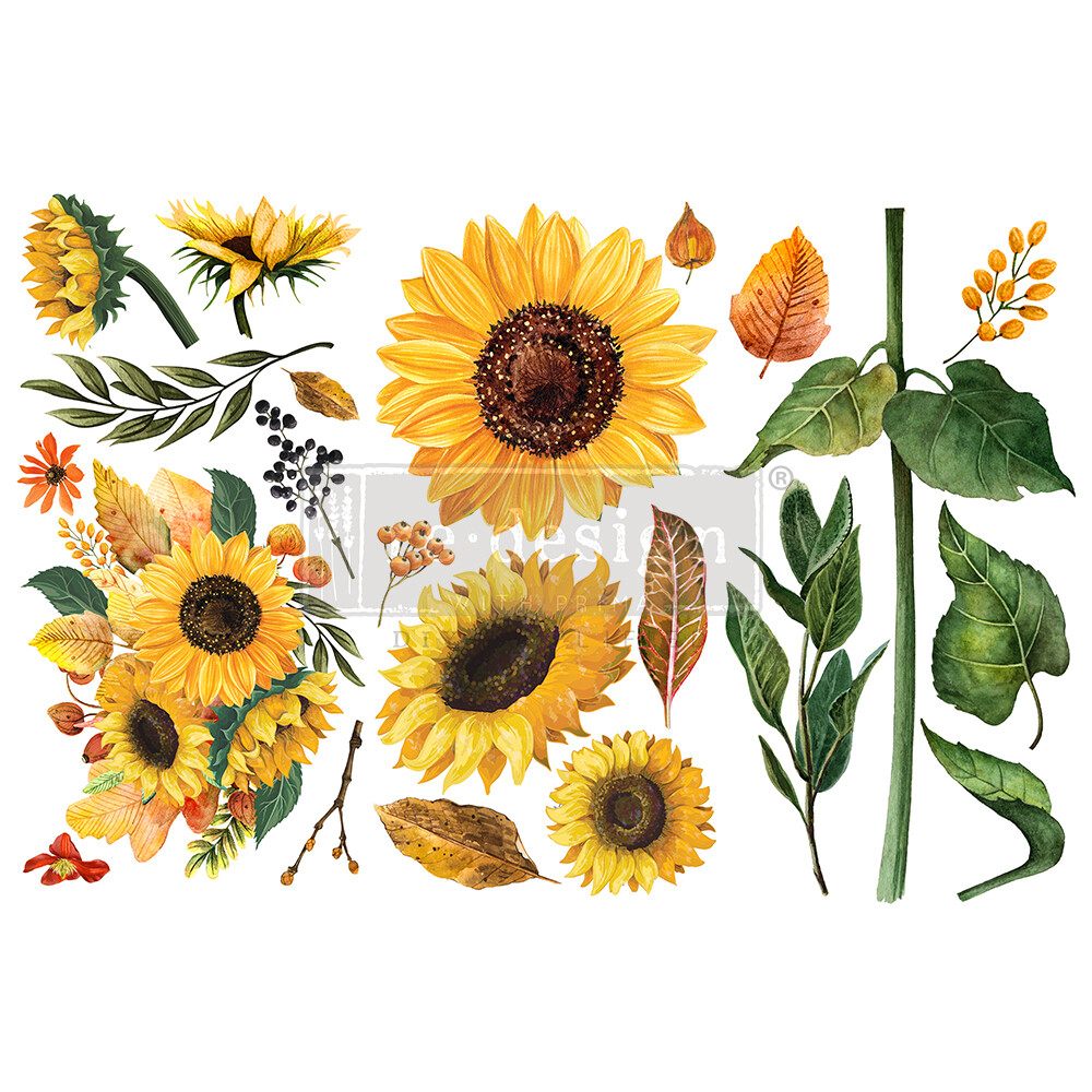 Small Decor Transfer - Sunflower Afternoon