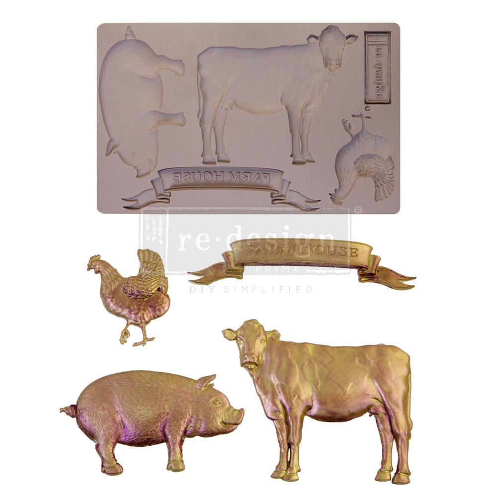 Décor Mould - Farm Animals