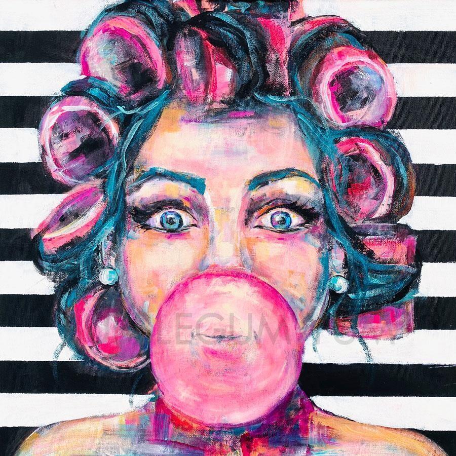 Self Adhesive Artisan Print - Bubblegum Yum
