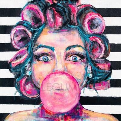 Decoupage Artisan Print - Bubblegum Yum
